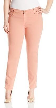 James Jeans Women's Plus Size Twiggy Curvy 5-Pocket Cigarette Leg Jean