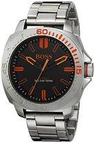HUGO BOSS BOSS Orange Men's 1513296 Sao Paulo Analog Display Japanese Quartz Silver Watch