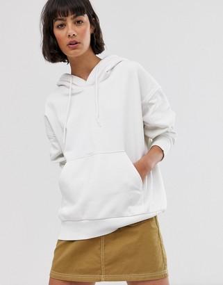 Weekday Alisa hoodie in white