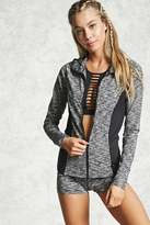 Forever 21 Active Hooded Marled Jacket