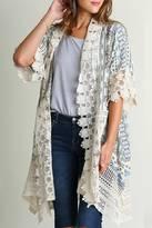 Umgee USA Printed Lace Kimono