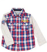 Guess Plaid Cotton Collared Shirt