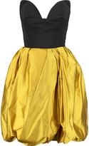 Oscar de la Renta Poplin and silk-satin mini dress