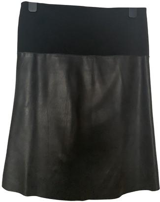 John Richmond Black Leather Skirts