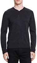 The Kooples Merino and Leather Pullover Sweater