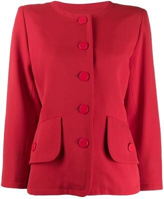 Yves Saint Laurent Pre-Owned Loose Collarless Jacket