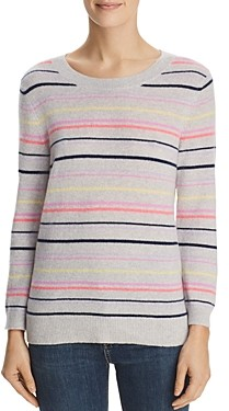 Bloomingdale's C by Striped Cashmere Sweater - 100% Exclusive