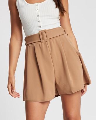 boohoo Belted Flippy Shorts