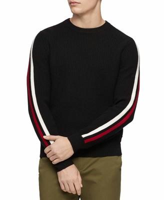 Calvin Klein Men's Wool Blend Crewneck Fall Holiday Sweater