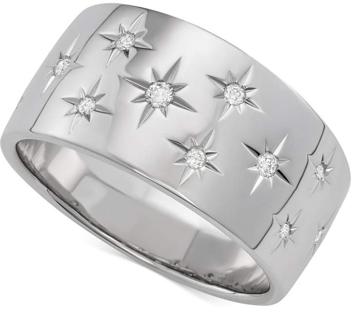 Marchesa Diamond Star Wedding Band (1/6 ct. t.w.) in 18k White Gold, Gold or Rose Gold