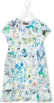 Roberto Cavalli printed dress - kids - Cotton/Spandex/Elastane - 8 yrs