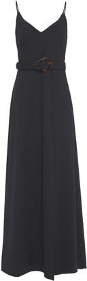 Nicholas Belted Twill Maxi Dress