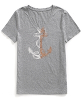Tommy Hilfiger Final Sale- Anchor Graphic Linen Slub Tee