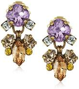 Sorrelli Rustic Bloom Multi-Cut Assorted Crystal Drop Earrings