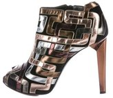 Pierre Hardy Metallic Leather Ankle Booties