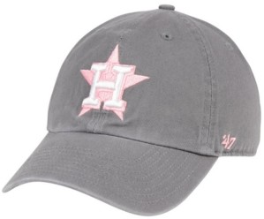 '47 Houston Astros Dark Gray Pink Clean Up Cap