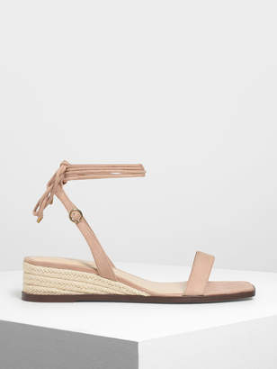 Charles & Keith Strappy Espadrille Wedges