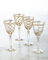 Vietri Elegant Grid Wine Glass