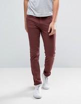 WÅVEN Skinny Jeans in Burgundy