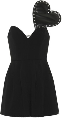 Saint Laurent Crepe sable playsuit