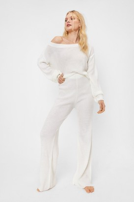 Nasty Gal Womens Leave the Rest to Us Wide-Leg trousers Lounge Set - White - S, White