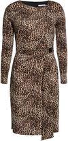 Gina Bacconi Leopard print slinky jersey dress