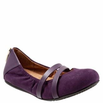 SoftWalk Women's Sierra Ballet Flat Royal Purple 8.0 W US