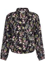 Yumi Floral Print Bomber Jacket