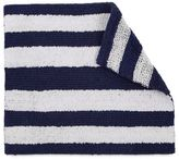 IZOD® 24-Inch x 17-Inch Reversible Stripe Bath Rug in Navy