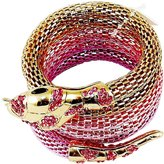 Ami Flexible Mesh Snake Bracelet - with Gold Tones & Faux Gemstones - .
