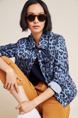 Bagatelle Leopard Denim Trucker Jacket