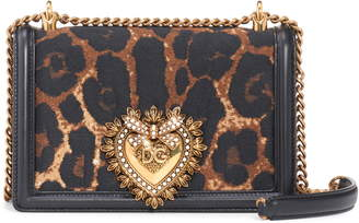 Dolce & Gabbana Devotion Genuine Calf Hair & Leather Crossbody Bag