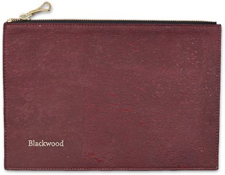 Blackwood Burgundy Cork Leather Compact Pouch