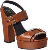 Roger Vivier Leather Platform Sandal