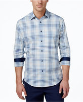 Tasso Elba Men's Big and Tall Long-Sleeve Plaid Shirt