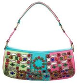 Etro Embellished Leather Shoulder Bag