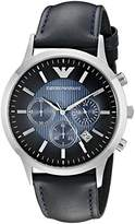 Emporio Armani Men's AR2473 Dress Blue Leather Watch