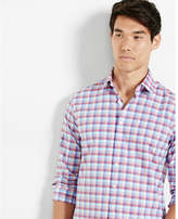 Express modern fit check dress shirt