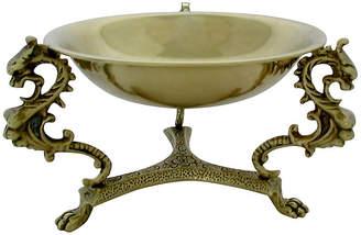 One Kings Lane Vintage Italian Brass Footed Bowl - Retro Gallery