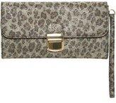 Dorothy Perkins Womens Leopard Pushlock Wristlet Clutch Bag- Leopard