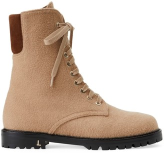 Lafayette 148 New York Fineley Camel Hair Combat Boots