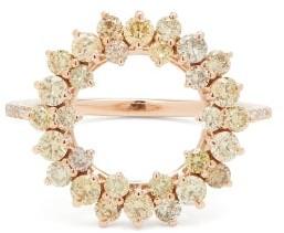 Anissa Kermiche Bon Bon Diamond, Morganite & 14kt Gold Ring - Gold