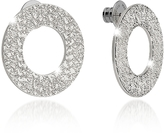 Rebecca R-Zero Rhodium Over Bronze Stud Drop Earrings