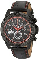 Versus By Versace Men's 'AVENTURA' Quartz Stainless Steel and Leather Casual Watch, Color:Black (Model: SOC080015)