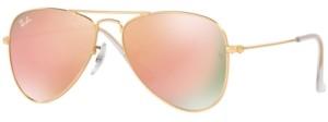 Ray-Ban Junior Sunglasses, RJ9506S Aviator Mirror ages 7-10