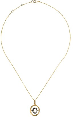 Annoushka 18kt gold diamond initial O necklace