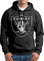 Sarah Men's Oakland Raiders Platinum Logo Hoodie XL