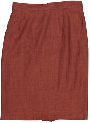 Christian Dior Red Linen Skirts