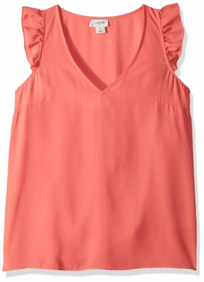 J.Crew Mercantile Women's Sleeveless Ruffle Top
