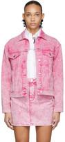 MSGM Pink Washed Denim Jacket